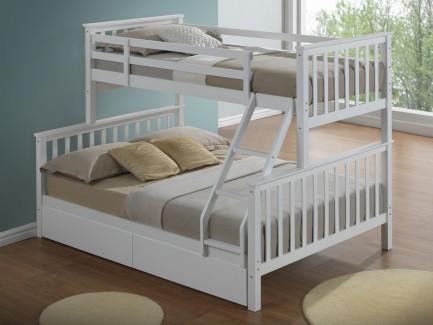 white 3 sleeper bunk bed