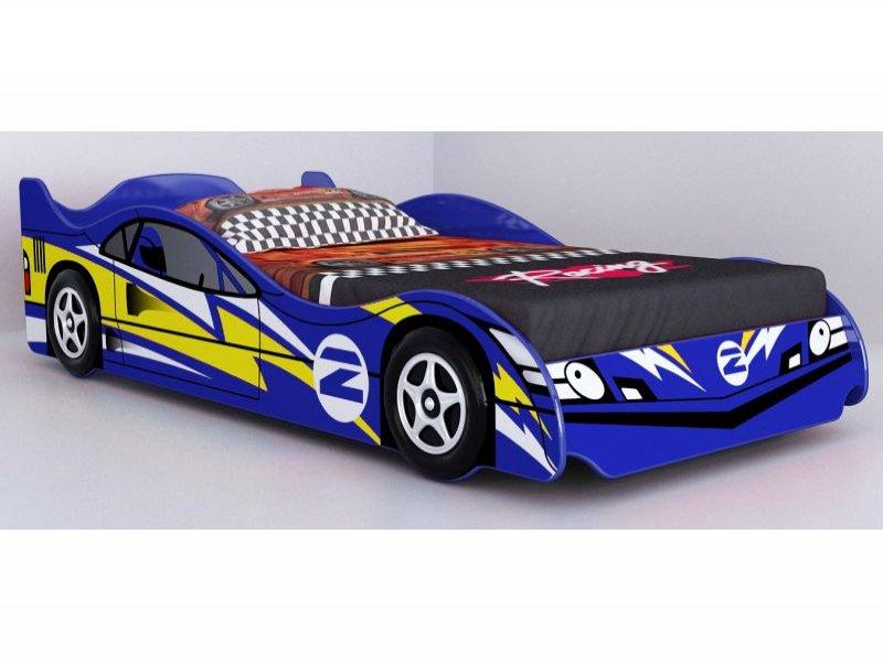 No 2 Blue Racing Car Bed