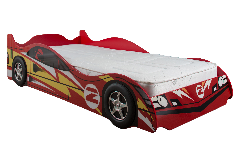 No2 Red Racing Car Bed