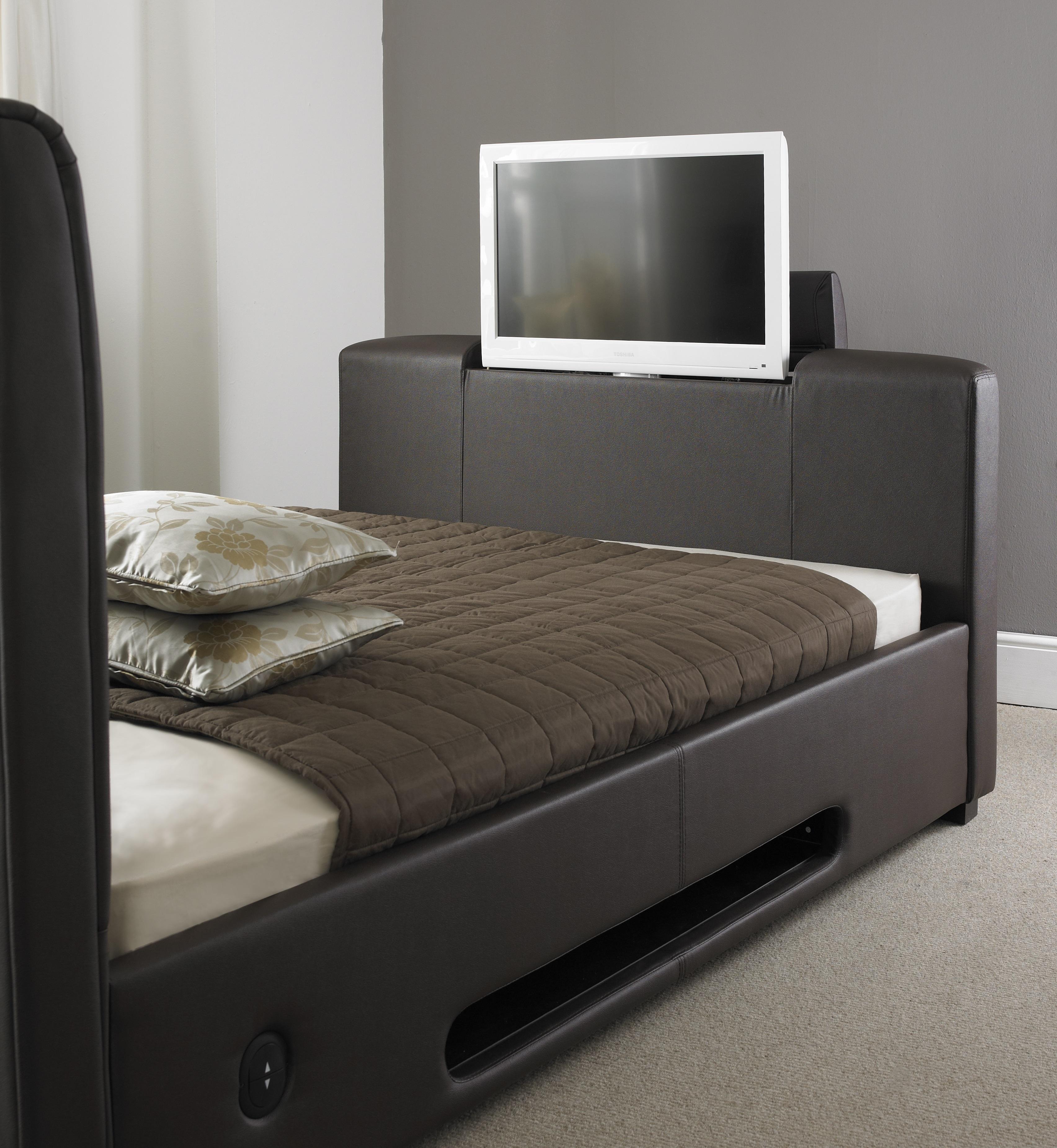 Express Brown Tv Bed 4ft6 5ft 6ft