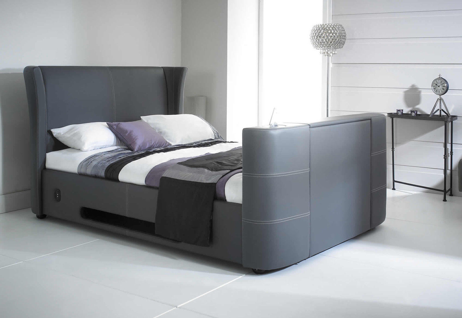 Elephant Tv Bed Grey I Pod Dock Bluetooth Speakers 5ft
