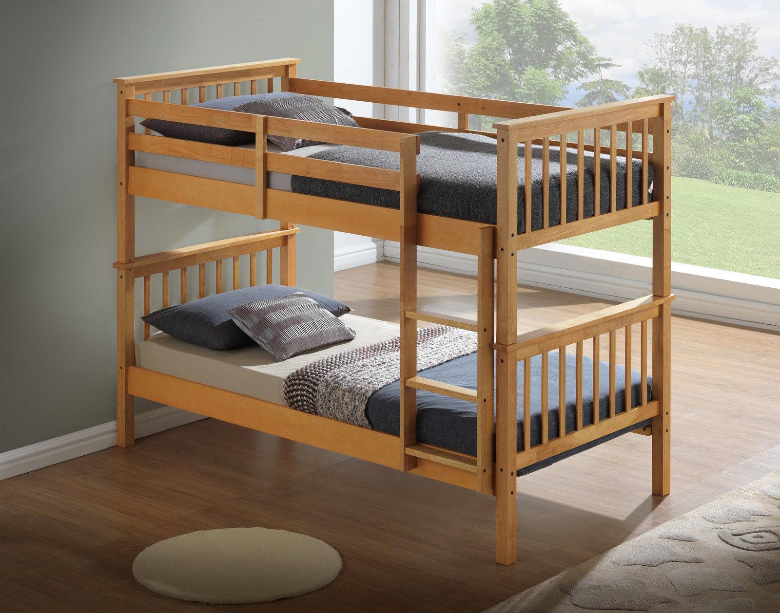 modern beech childrens bunk bed. Black Bedroom Furniture Sets. Home Design Ideas