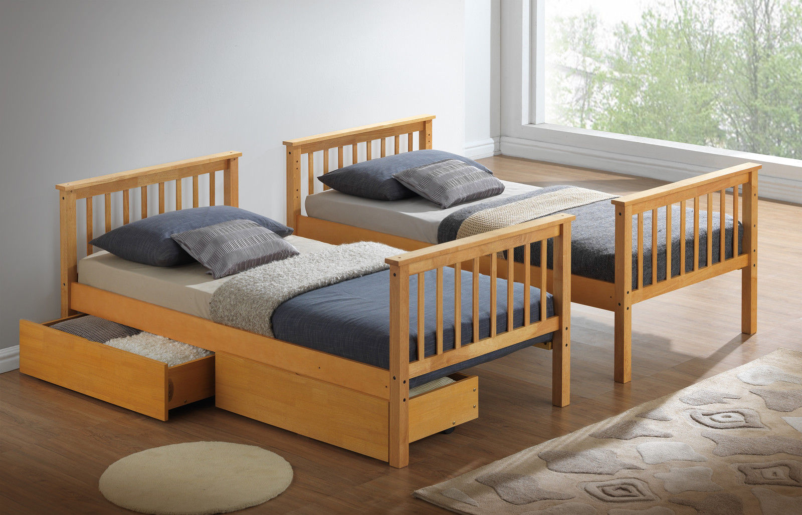 Beech Bunk Bed Or Beech Three Sleeper Drawers Only