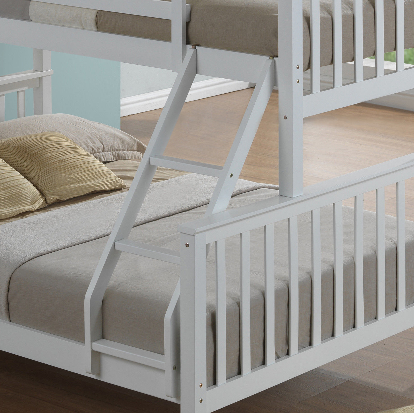 Modern 3 Sleeper White Childrens Bunk Bed – Inc Drawers