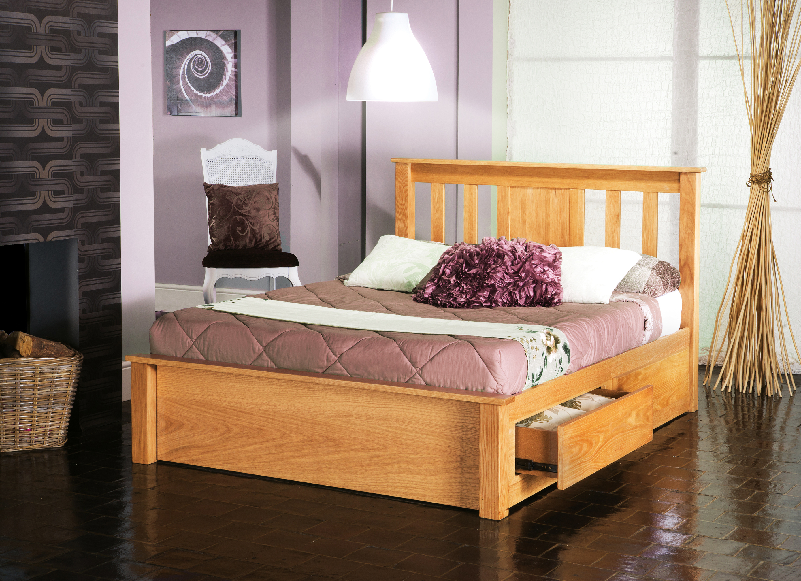 Vest Madison Wooden Bed Inc Drawers