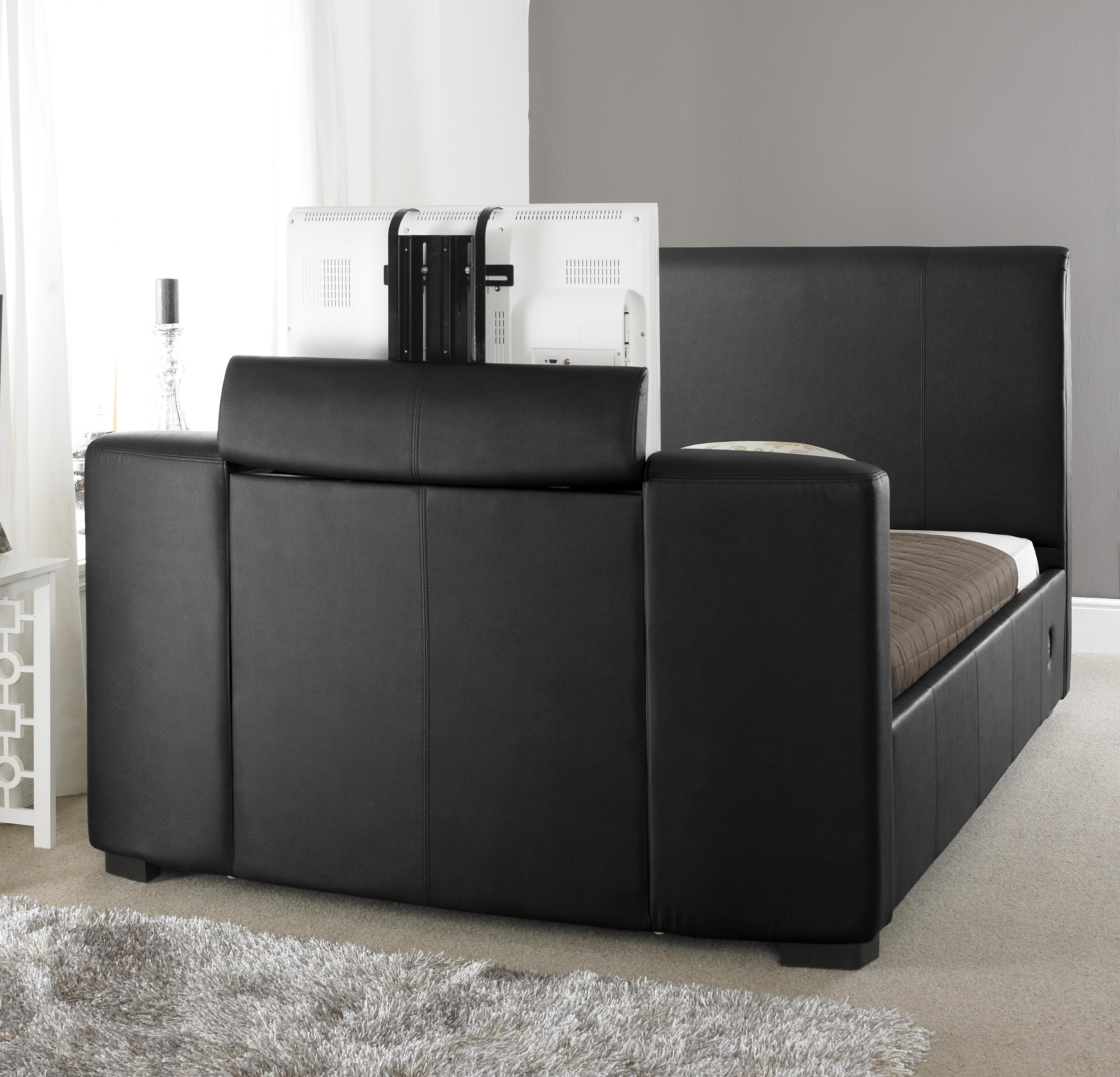 Express Black Tv Bed 4ft6 5ft 6ft